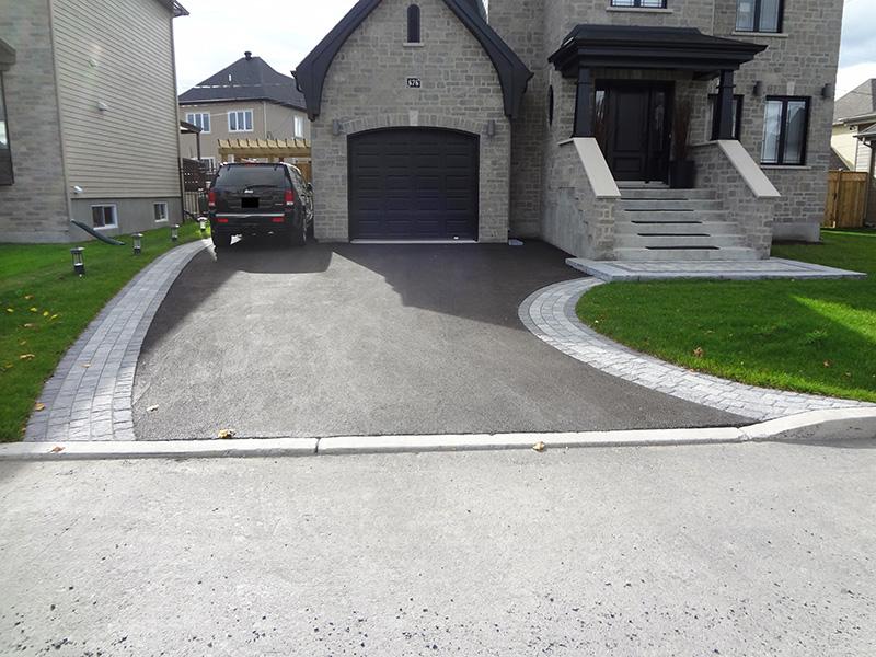 Entr es trottoirs et all es - Entree de garage en pave ...